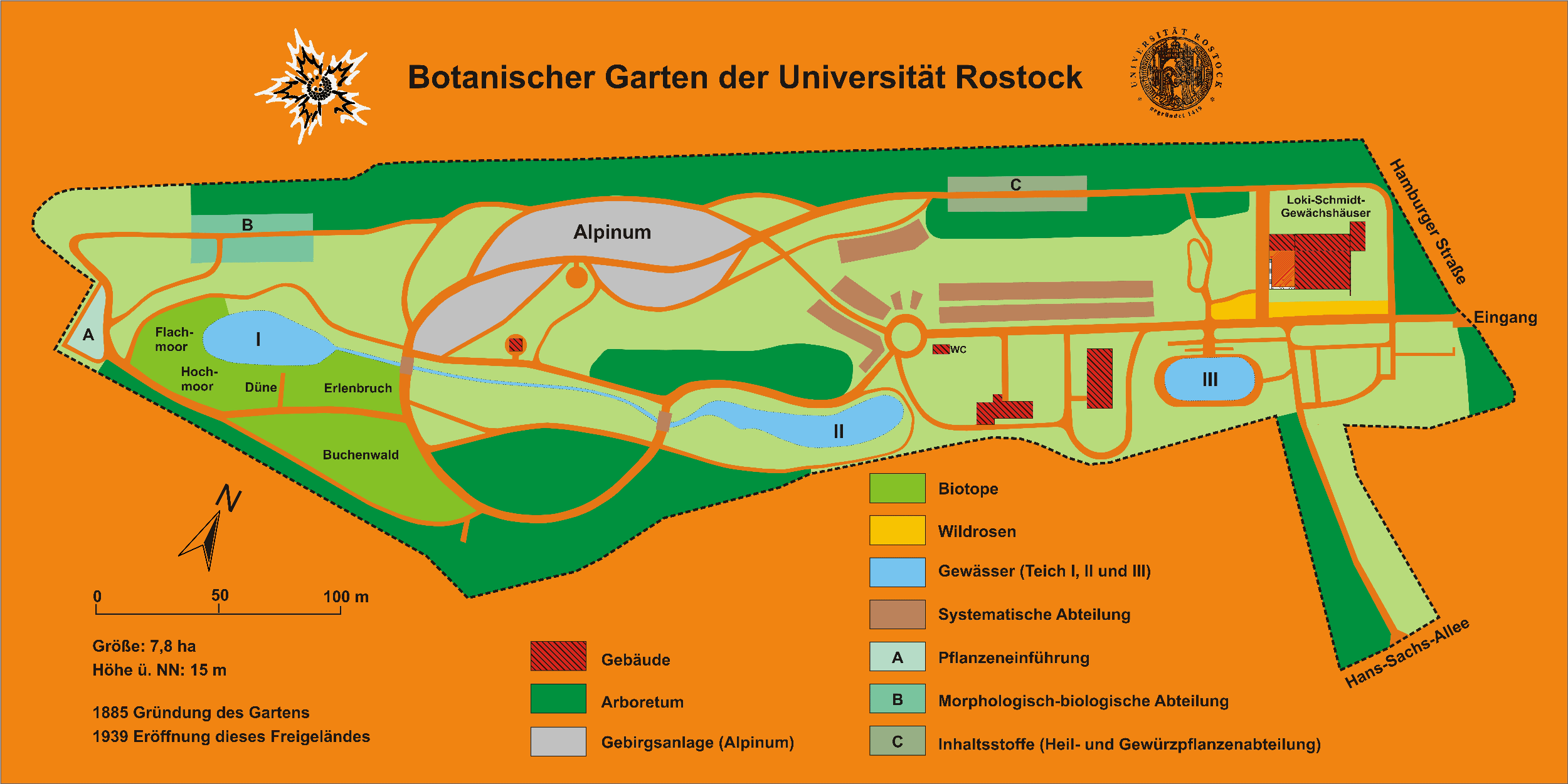 file botanischer garten rostock plan wikimedia commons. Black Bedroom Furniture Sets. Home Design Ideas