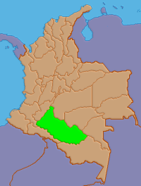 Location of Caquetá