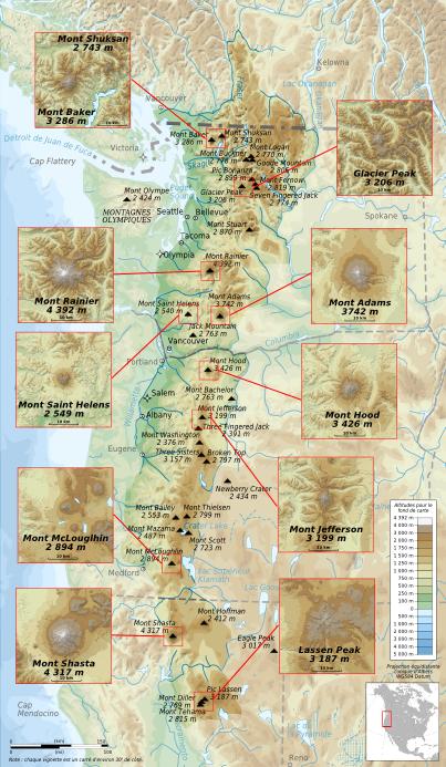 File:Cascade Range major volcanoes topographic map-fr.png ... on