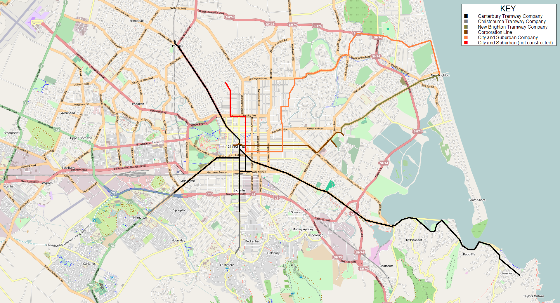 map of christchurch images reverse search Map Of Christchurch filename christchurch_private_tramway_route_map png map of christchurch
