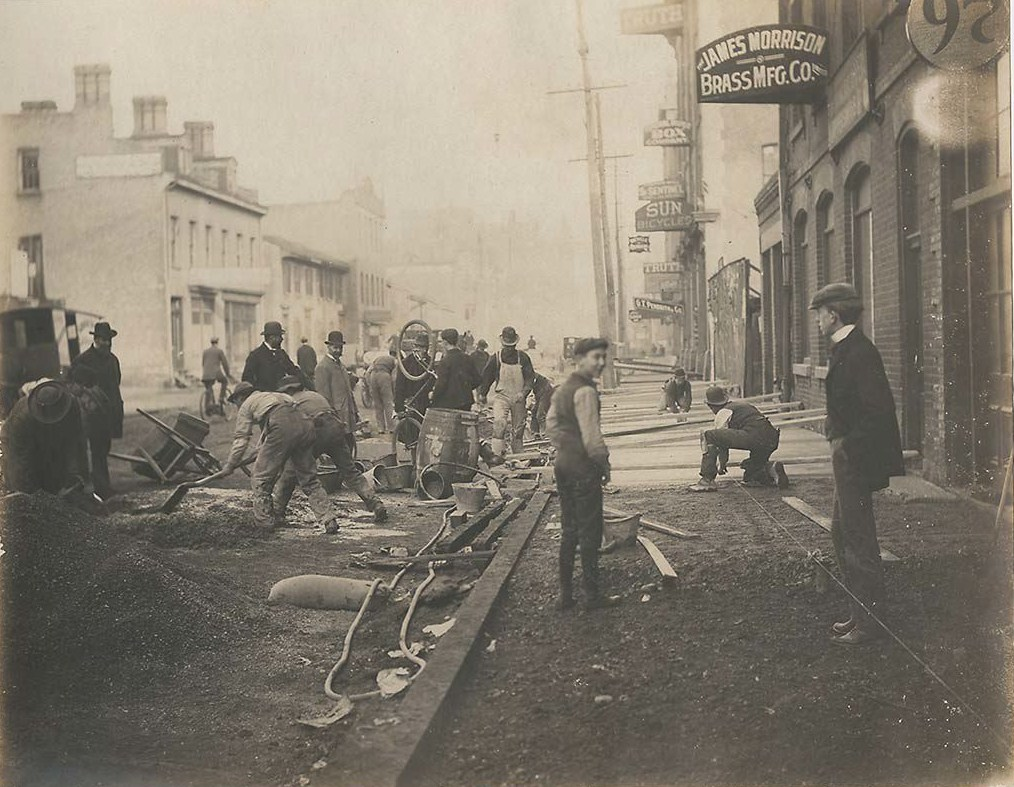 Construction of concrete sidewalk south side of Adelaide Street from Bay Street to York Street.jpg