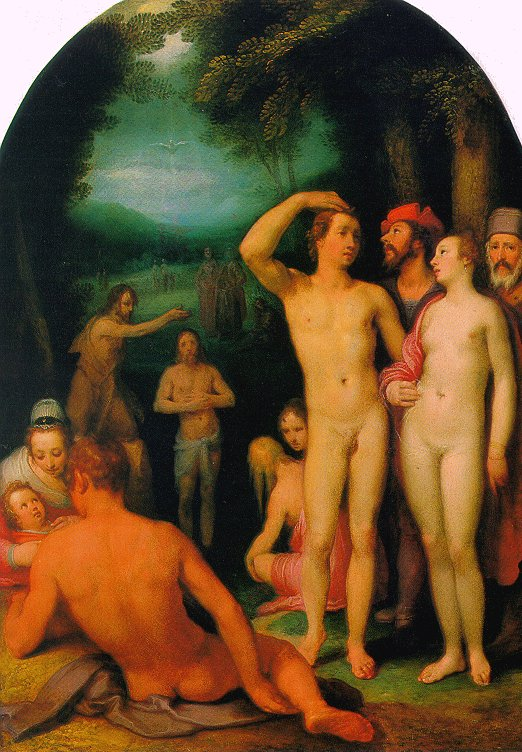 """The Baptism of Christ"" by Cornelis van Haarlem"