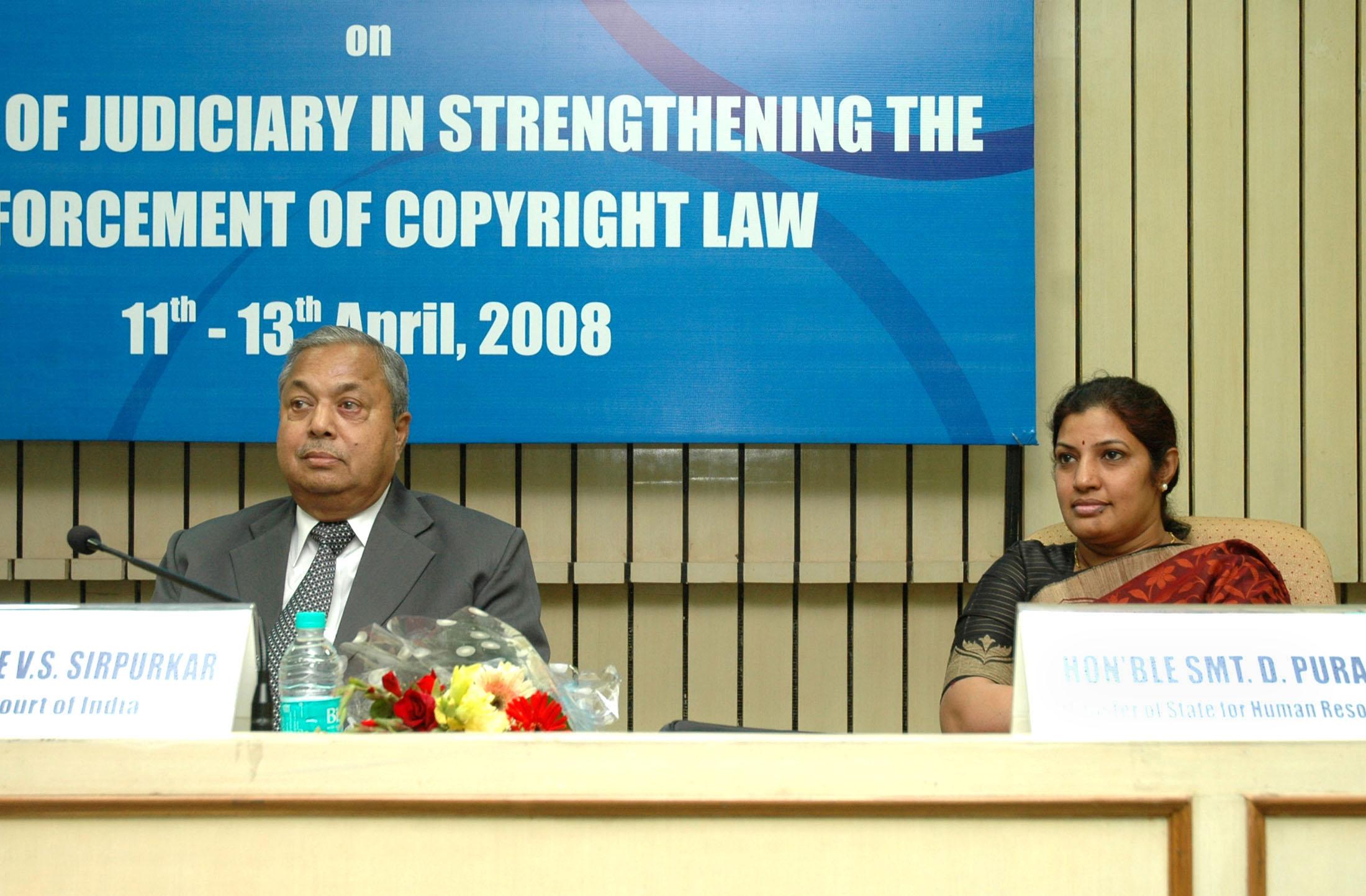 File:D  Purandeswari and the Judge, Supreme Court of India
