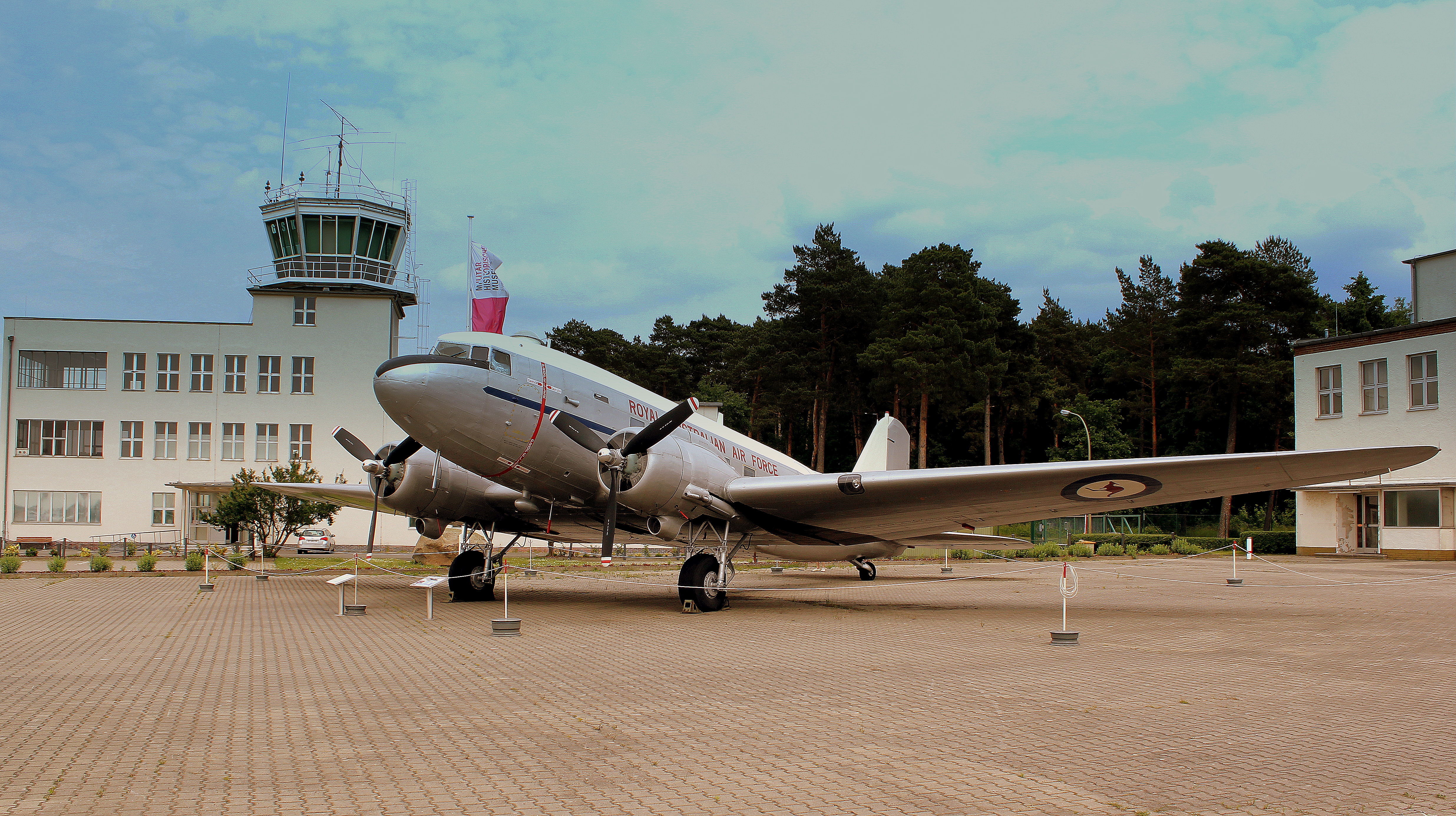 DOUGLAS C47 OF THE ROYAL AUSTRALIAN AIR FORCE AT THE LUFTWAFFEN MUSEUM RAF GATOW BERLIN GERMANY JUNE 2013 (9107076297).jpg