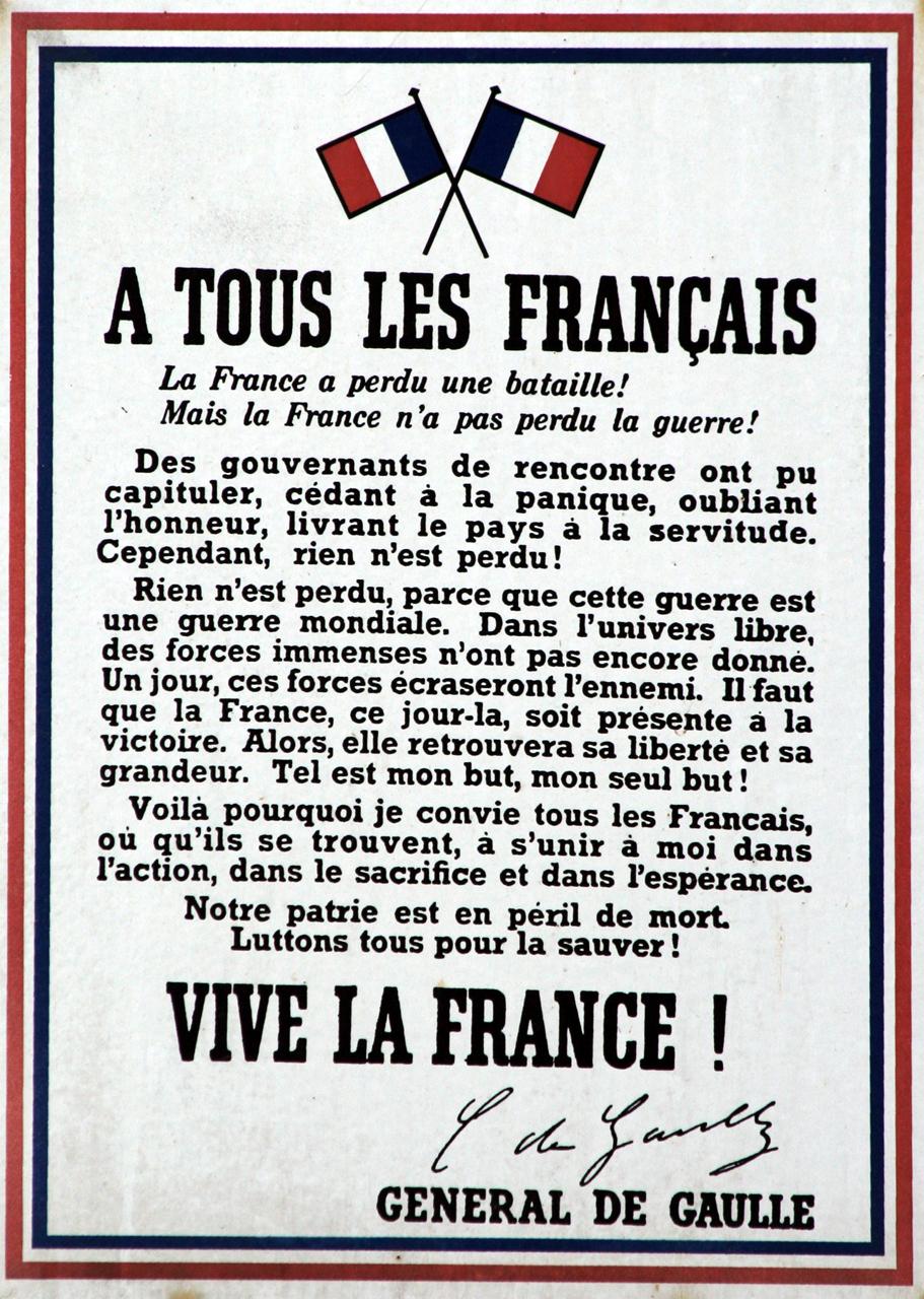 Appello del 18 giugno wikipedia for Les francais et la cuisine