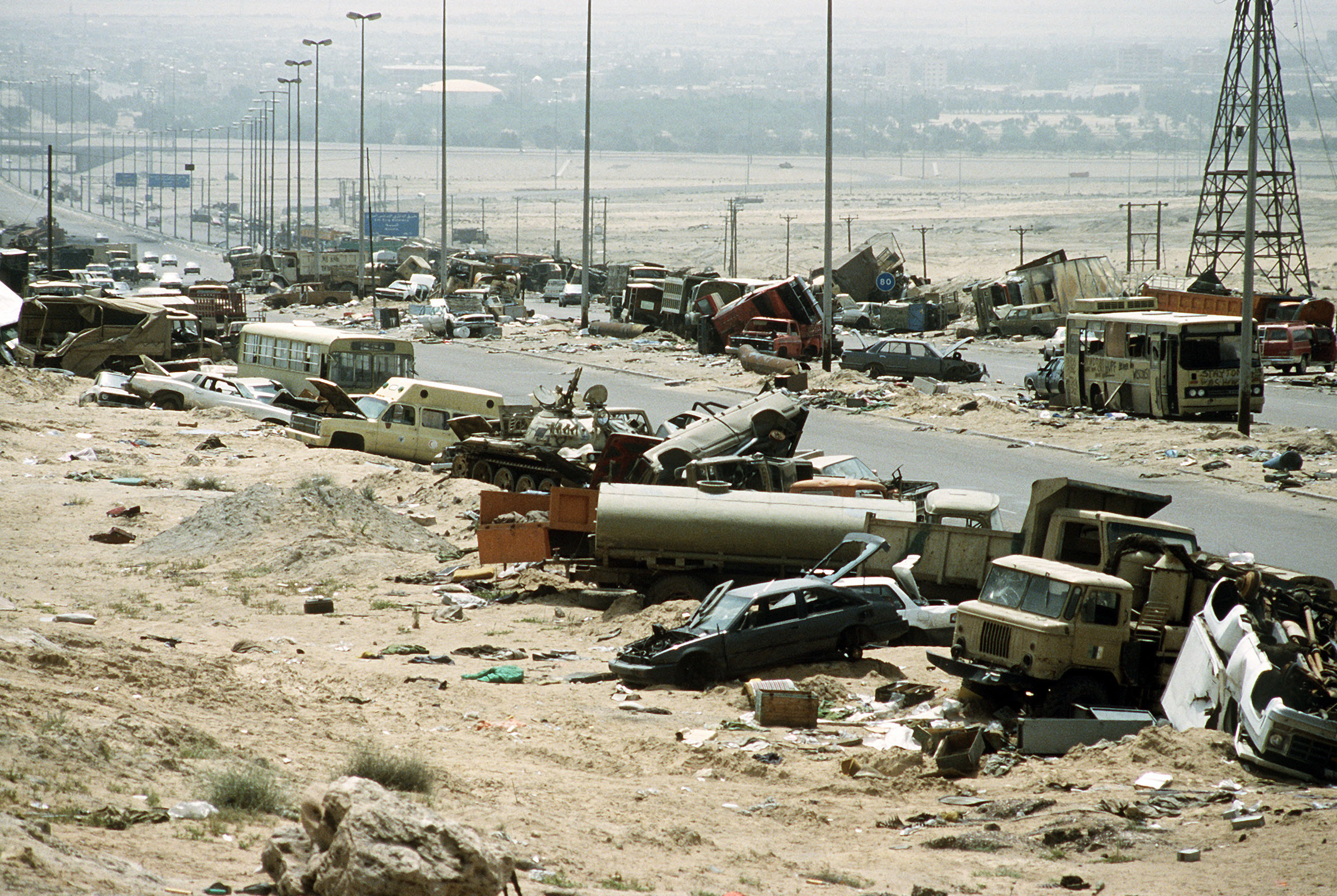 Iraqi Army Wikipedia Battery Light Bulb And Wire Http Govinsciencezoneblogspotcom 2011 Demolished Vehicles Line The Highway Of Death On 18 April 1991