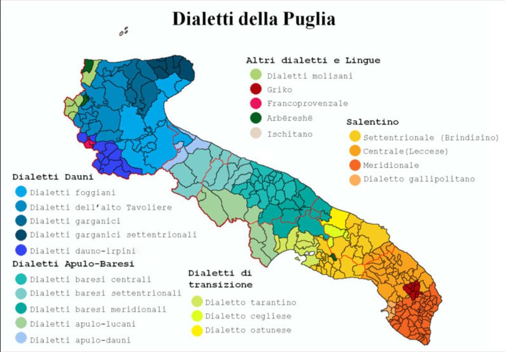 Cartina Puglia Noicattaro.Dialetti Della Puglia Wikipedia