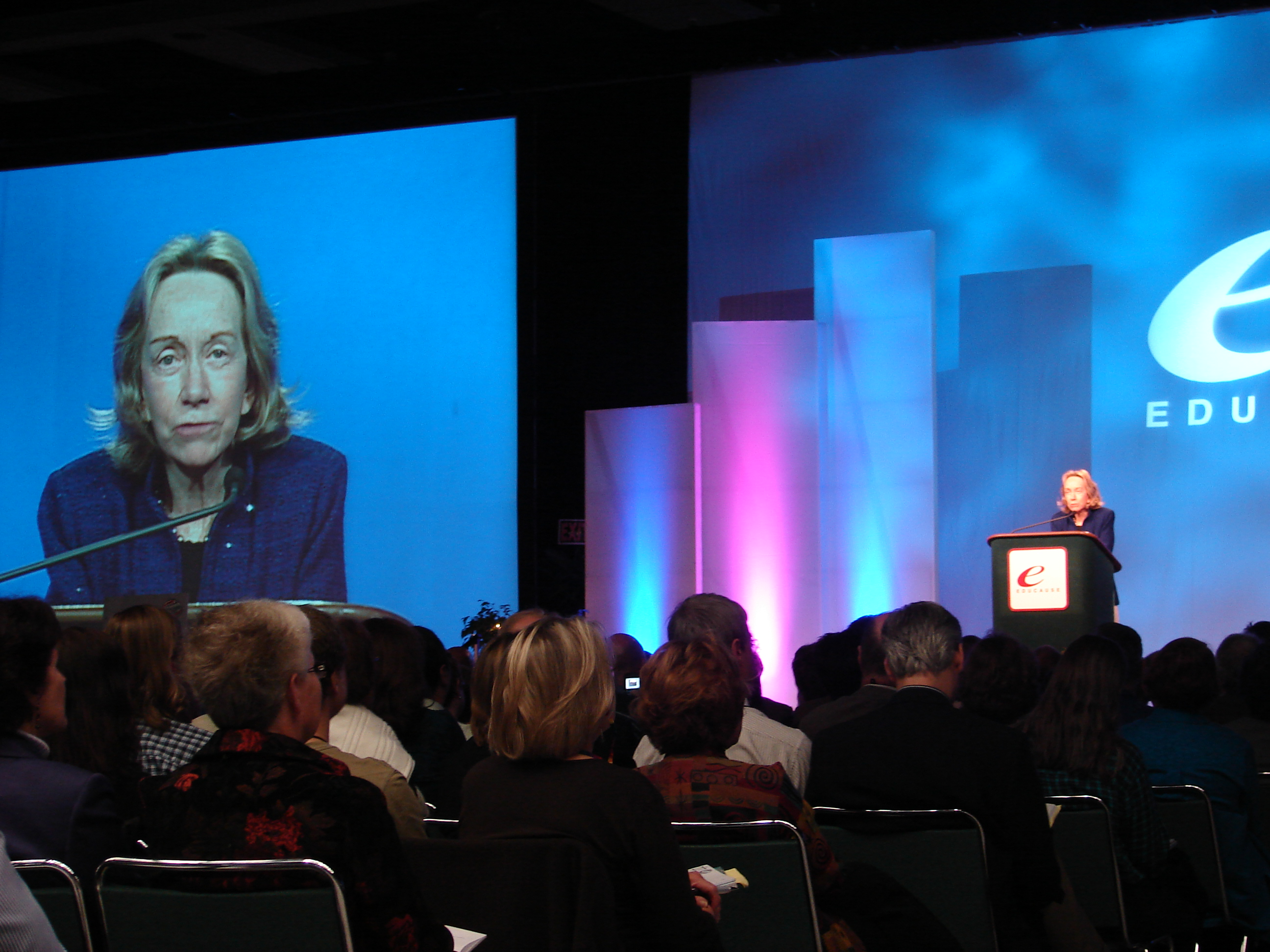 Goodwin speaking at a conference in 2006
