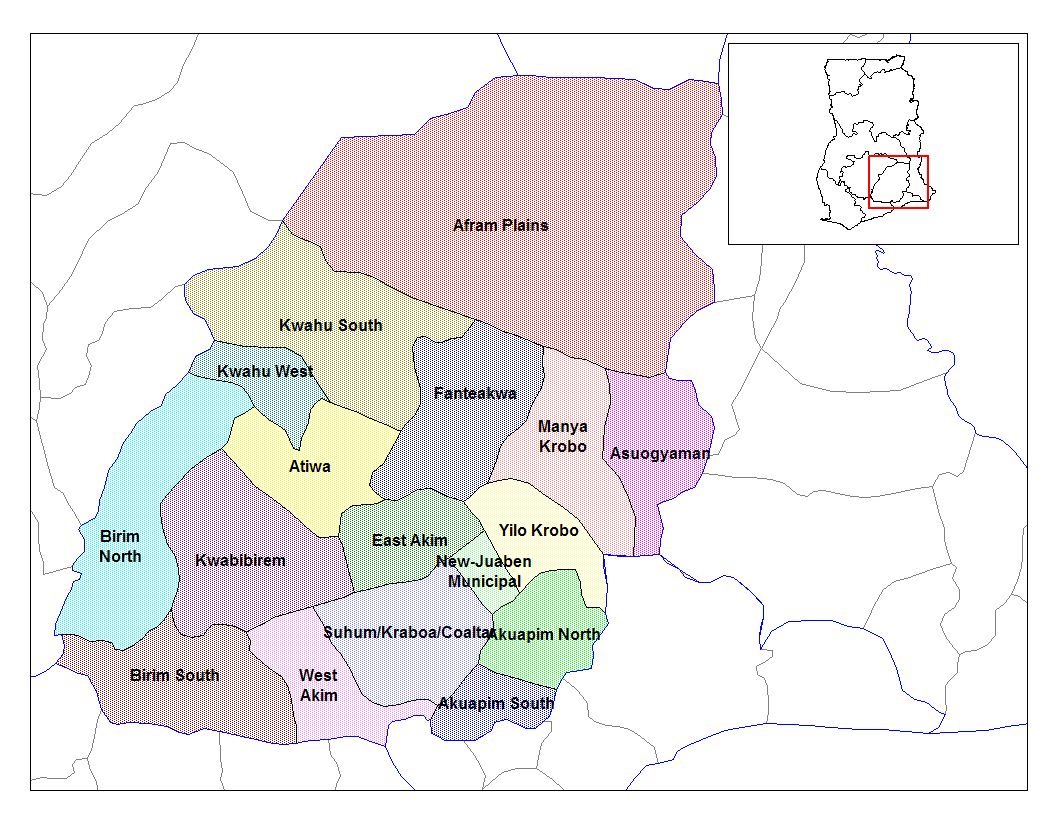 Districts of Ghana