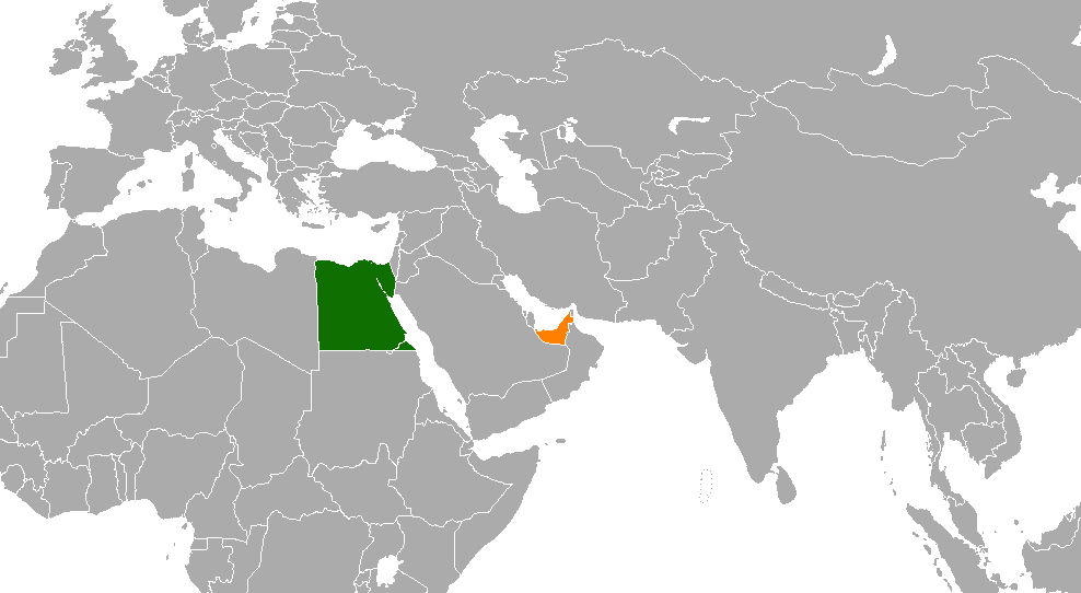 EgyptUnited Arab Emirates Relations Wikipedia - Map of egypt and uae
