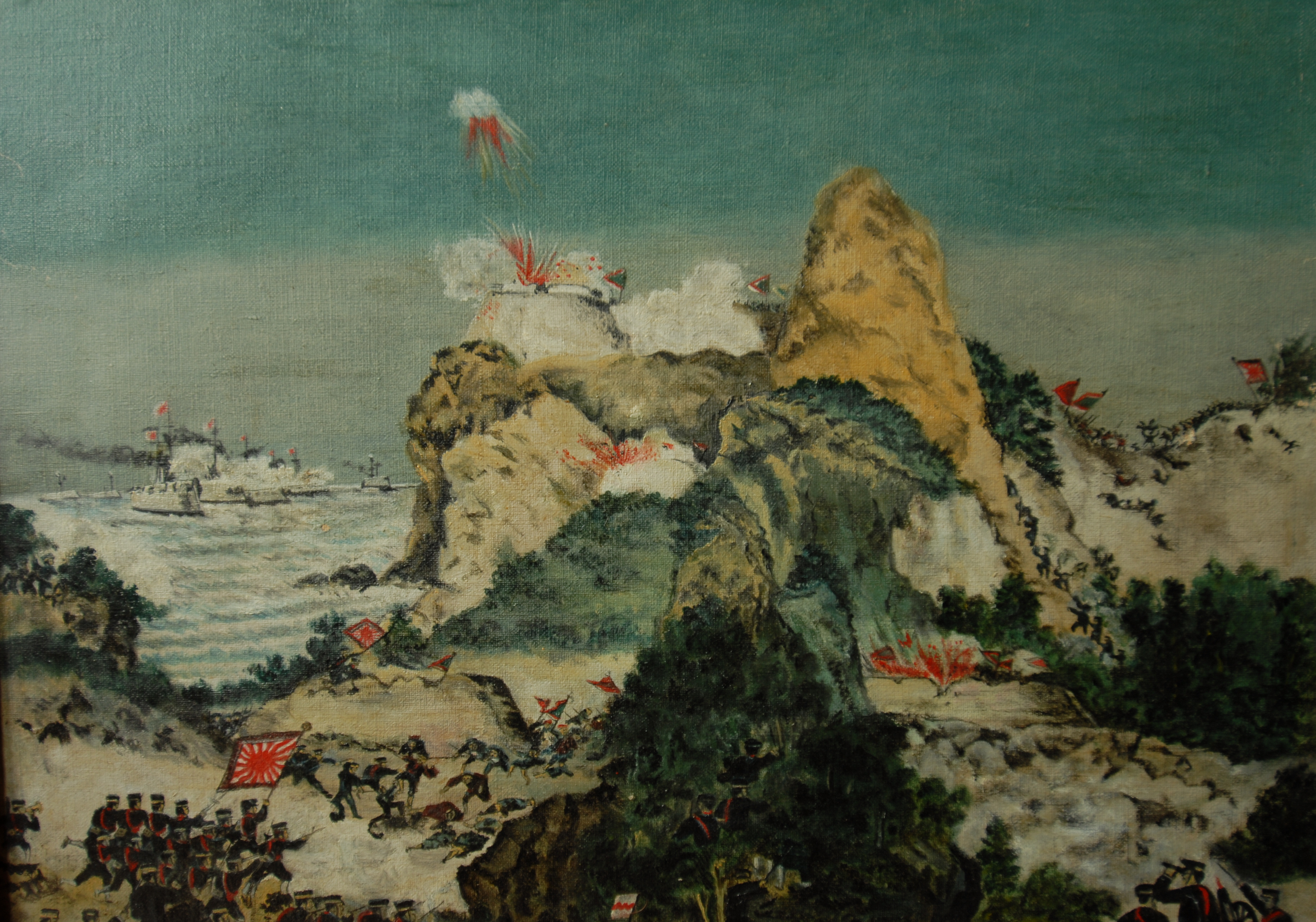 File:Engagement first sino-japanese war (oil painting) jpg