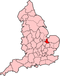 Isle of Ely shown within England