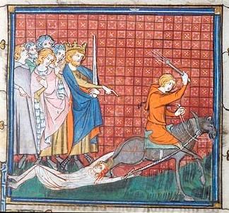 File:Execution of Brunehilda in medieval miniature 1.jpg