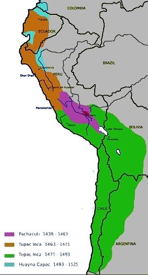 Expansión del Imperio incaico - Wikipedia, la enciclopedia libre