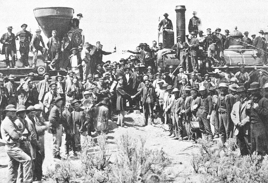 Golden Spike ceremony%2C Promontory%2C Utah%2C May 10%2C 1869