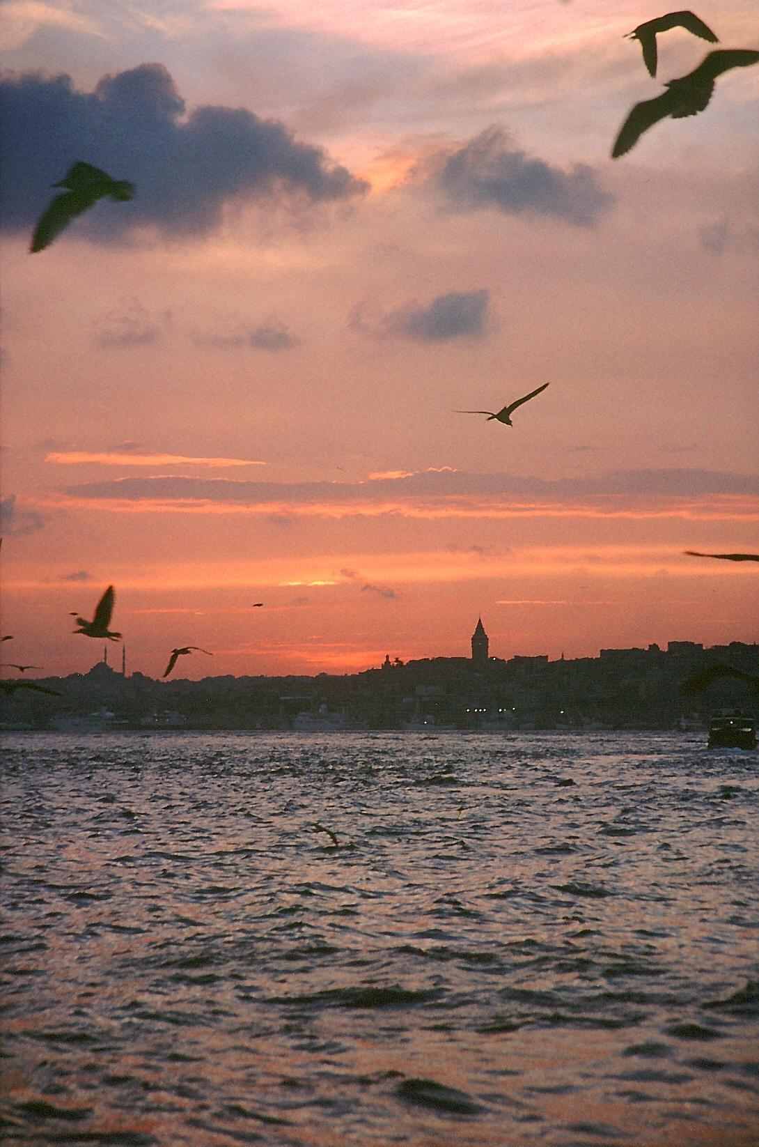 Sonnenuntergang am Goldenen Horn, Istanbul - Quelle: Wikimedia