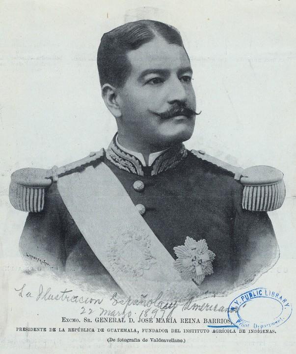 Retrato del presidente José María Reina Barrios