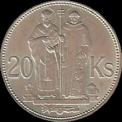 20 Slovak korún coin from 1941 - reverse