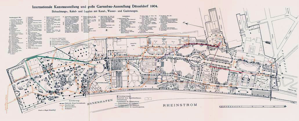 Gartenbau Düsseldorf file karte internationale kunst ausstellung und große gartenbau