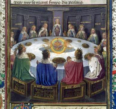 Knights Of The Round Table And The Holy Grail Painting Of The