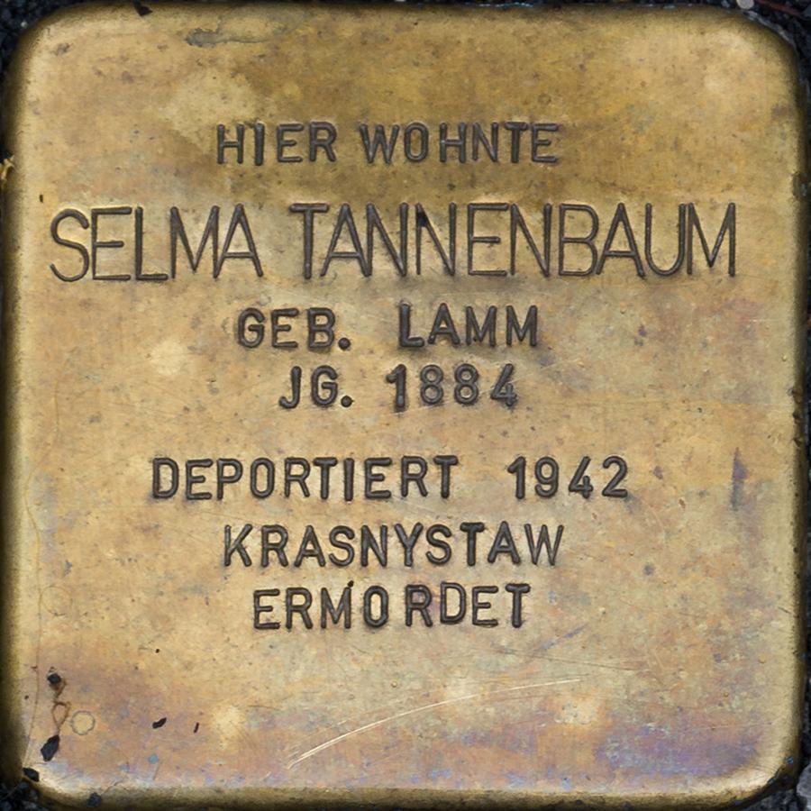 Kronach - Stolperstein Selma Tannenbaum (Friesener Straße 21).jpg
