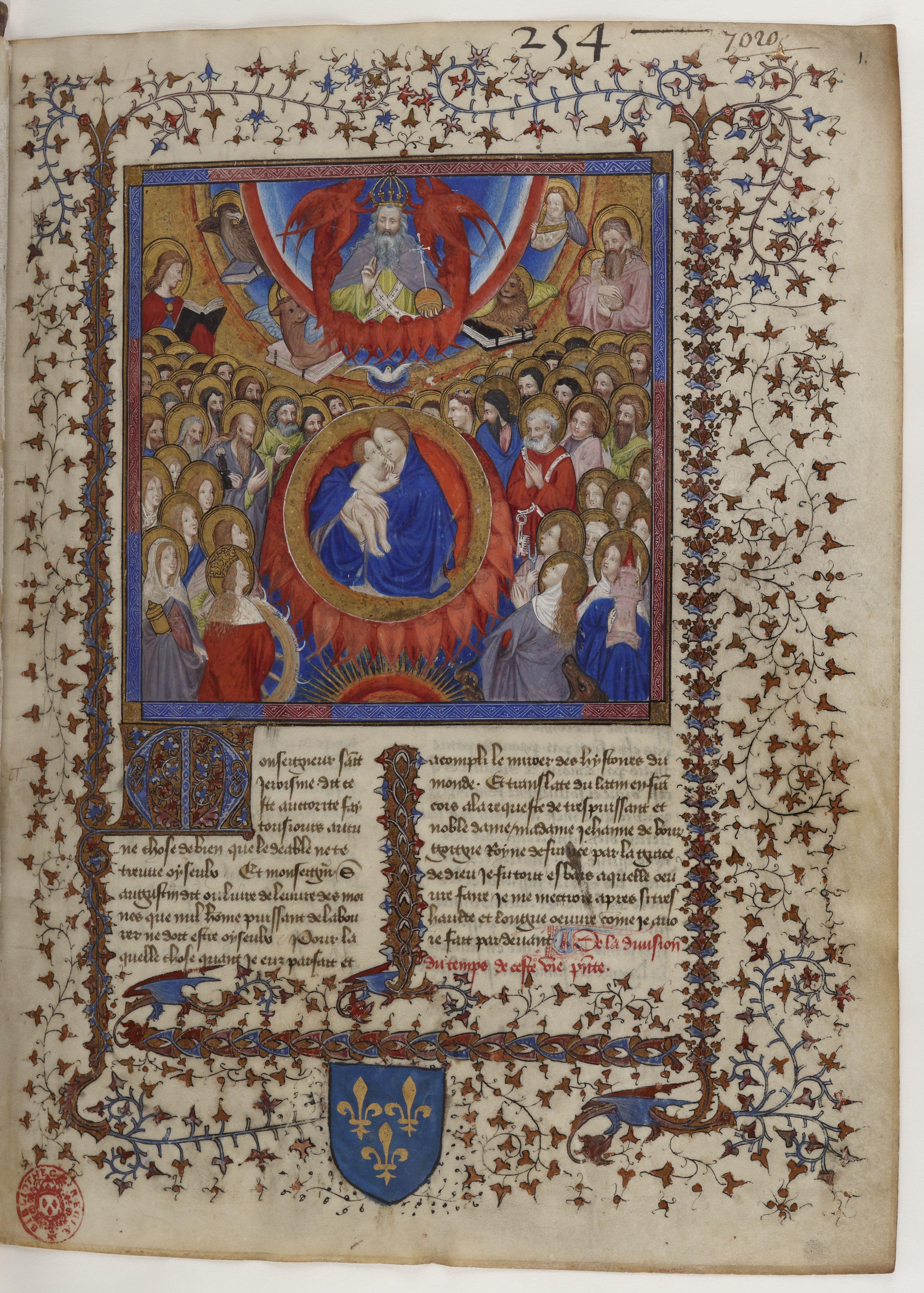 Fichierlégende Dorée Bnf Fr414 F1r Vierge à Lenfant Et