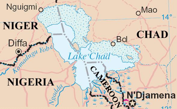 チャド湖略地図