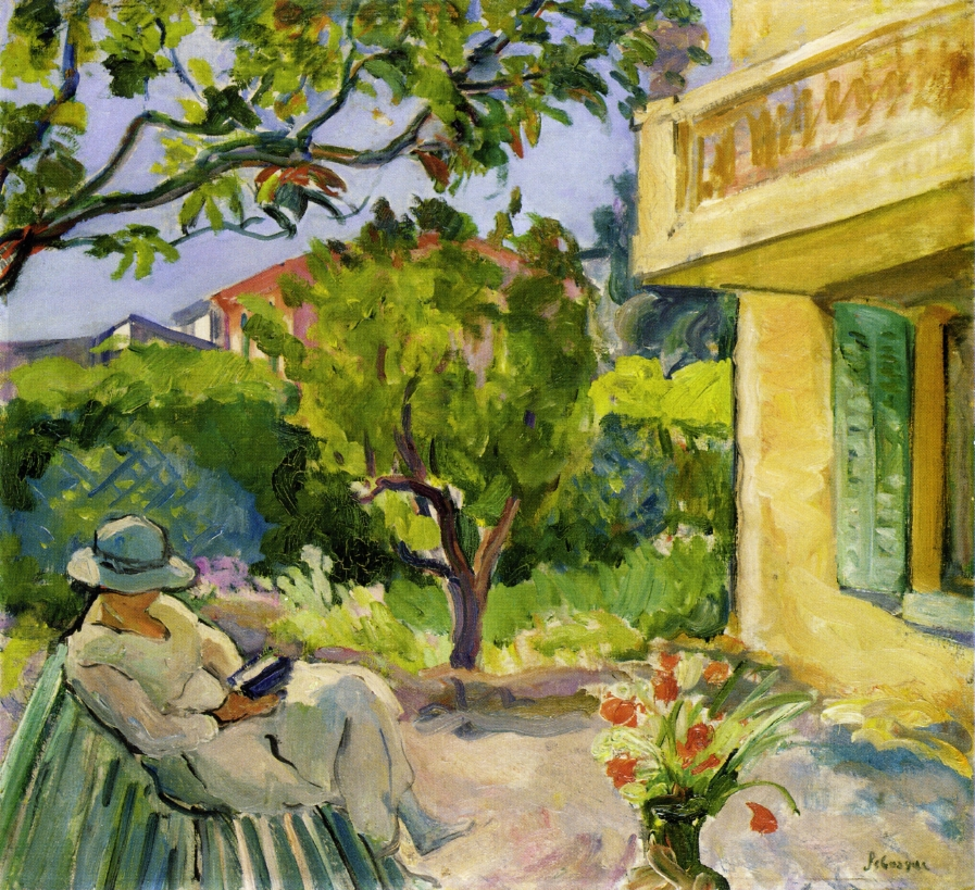 File Le Cannet Madame Lebasque Reading In The Garden By