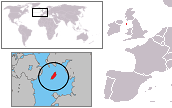 A map showing the location of Isle of Man