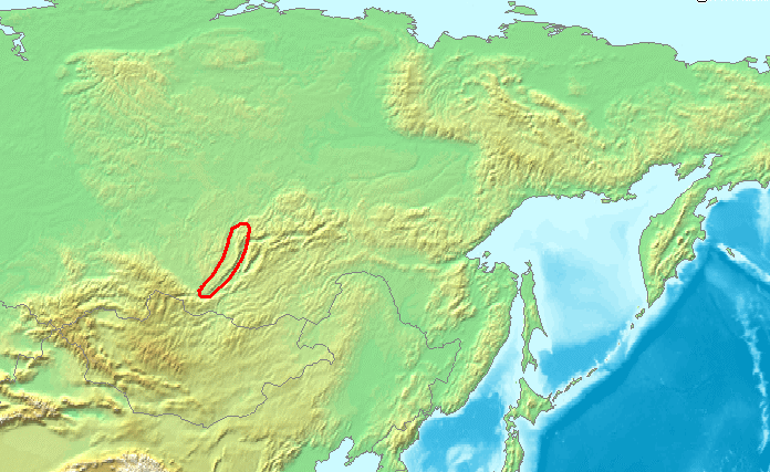 Baikal mountains russia map