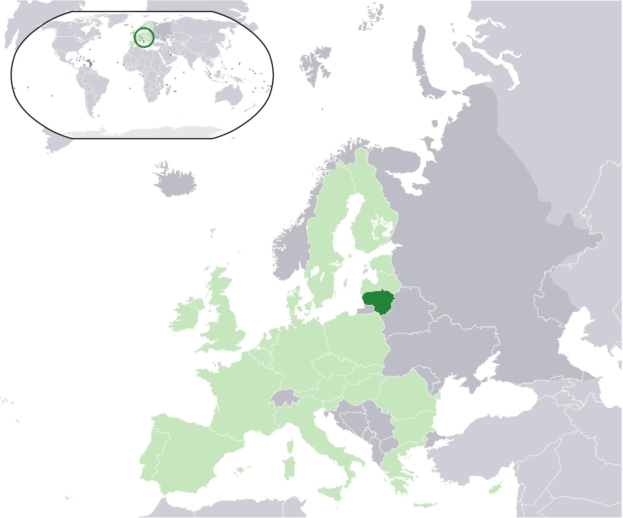 Lithuania On Europe Map.File Location Lithuania Eu Europe Png Wikimedia Commons