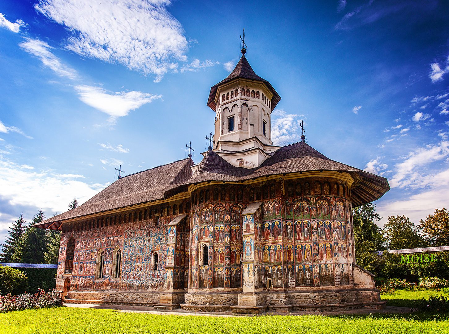 Painted monastery; incredible spots to visit in Romania