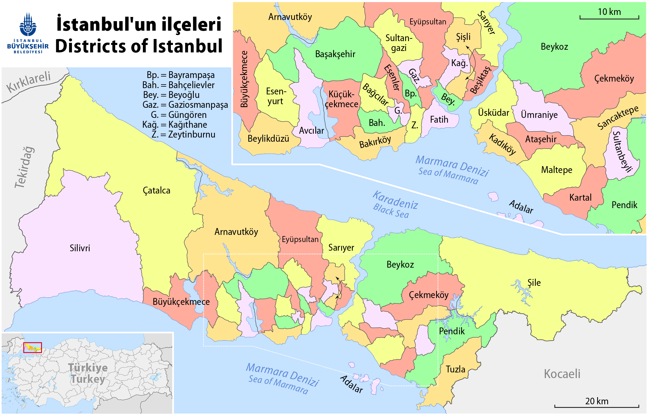 FileMap of the Districts of Istanbulpng Wikimedia Commons