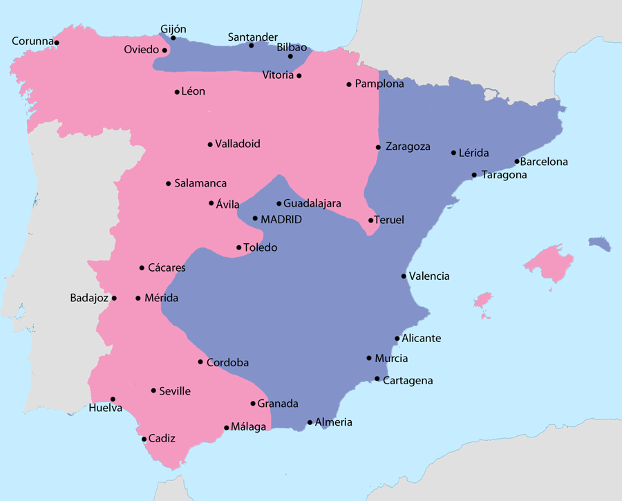 Teruel Spain Map.File Map Of The Spanish Civil War In March 1937 Png Wikimedia Commons