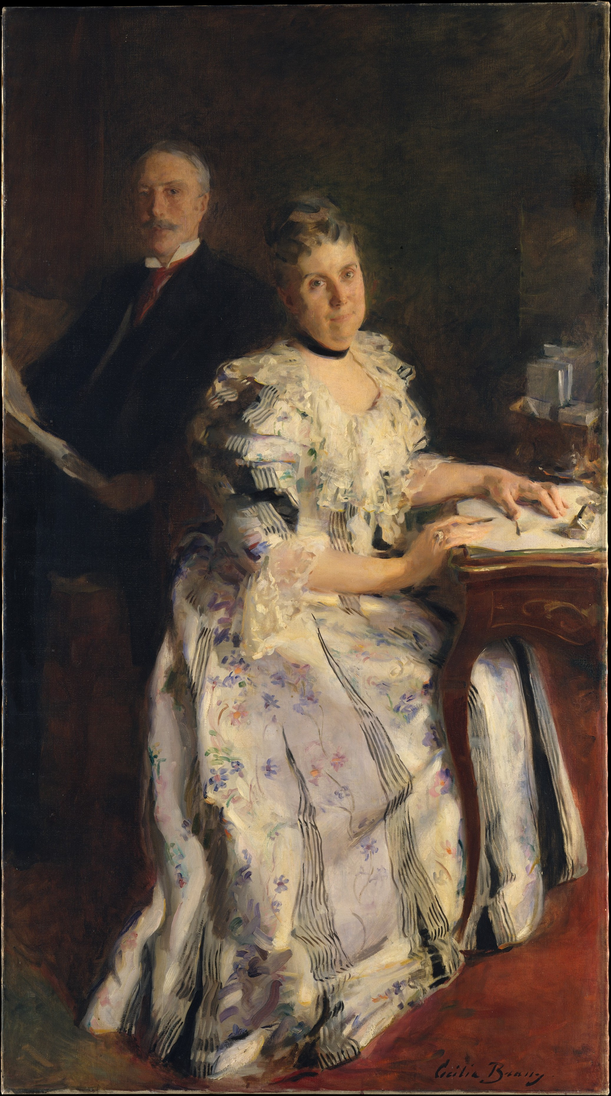 Mr and Mrs Anson Phelps Stokes, about 1898.
