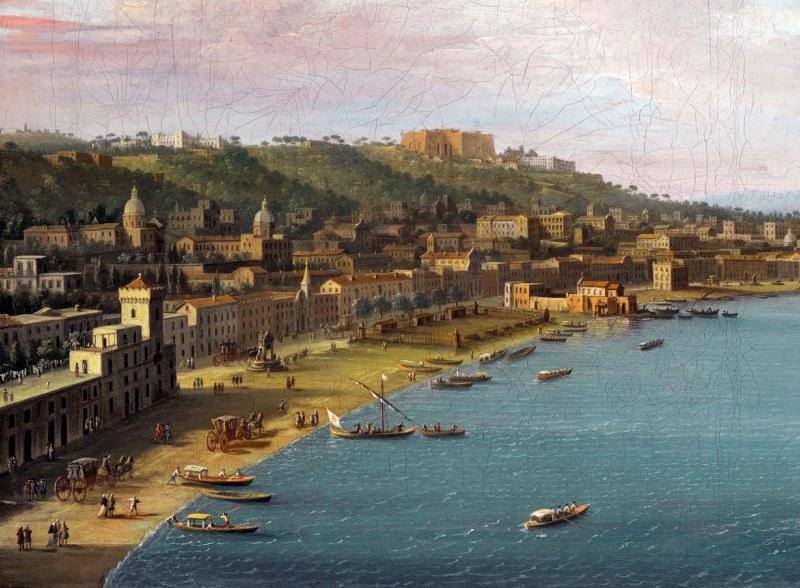 Riviera et plage de Chiaia à Naples par Antonio Joli (1755)