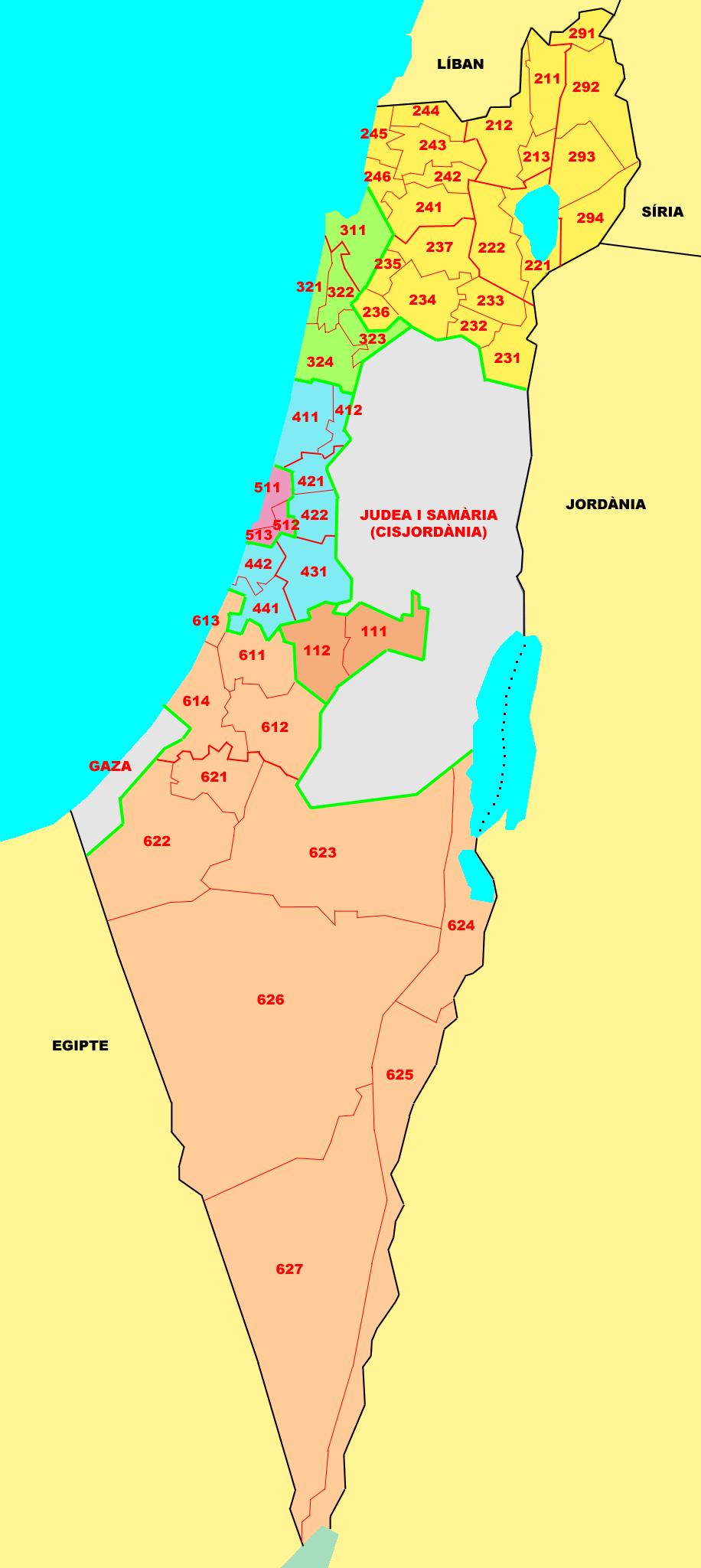 Israel Map Regions