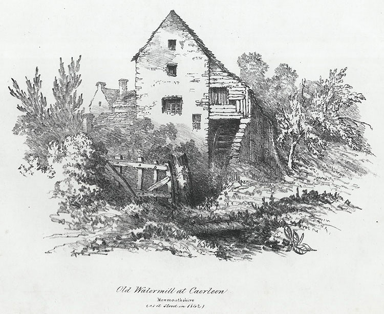 Old Watermill at Caerleon, Monmouthshire (as it stood in 1842)