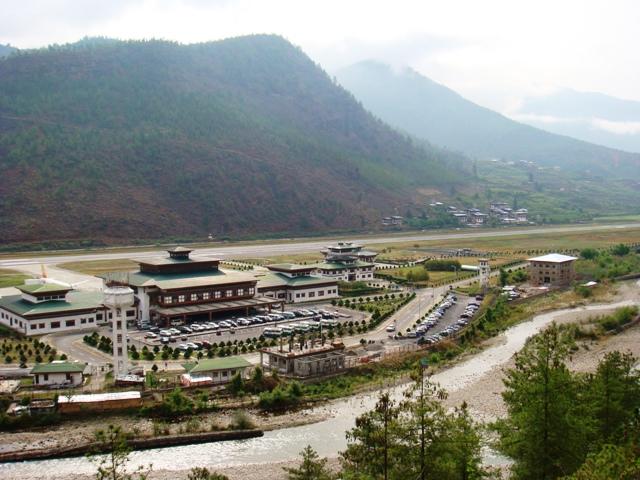 Paro Bhutan  city images : Paro Airport%2C Paro%2C Bhutan