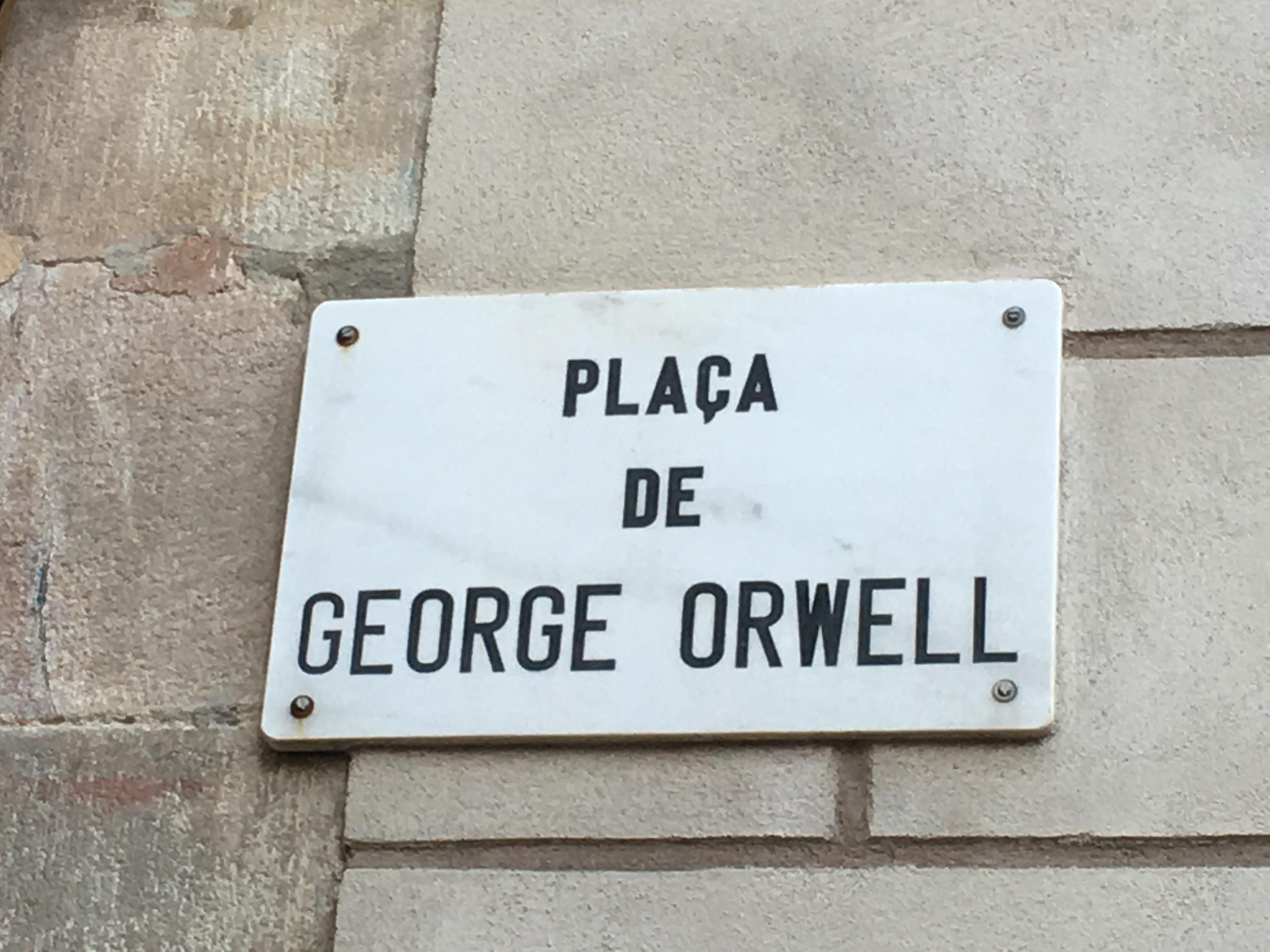 Placa De George Orwell