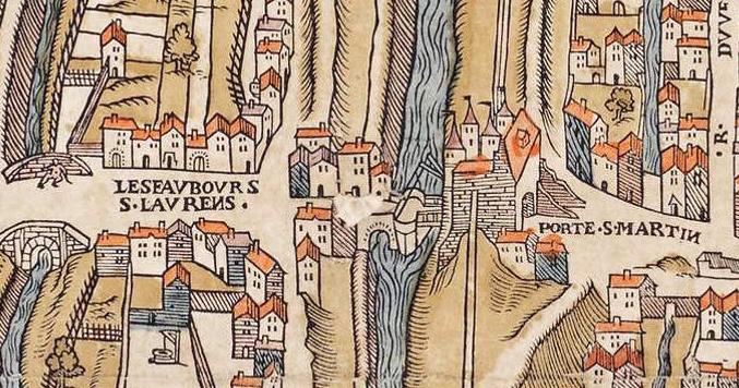 Fichier:Plan de Paris vers 1550 porte St-Martin.jpg