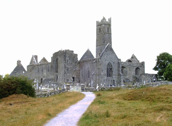 Quin Abbey, a Franciscan Friary built in the 15th century and suppressed in 1541