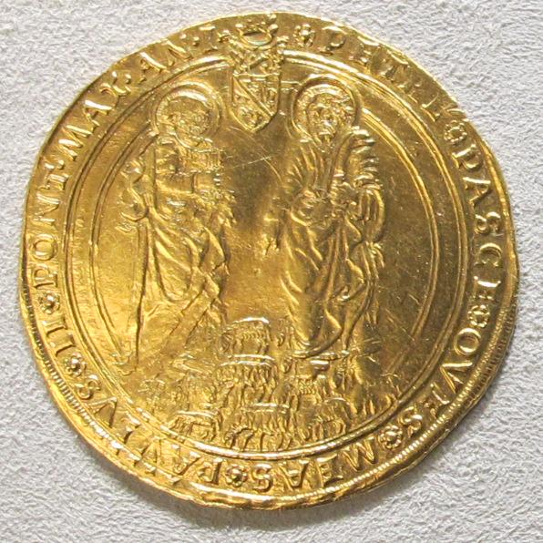 File:Roma, paolo II, 4 ducati, 1464-1471.jpg