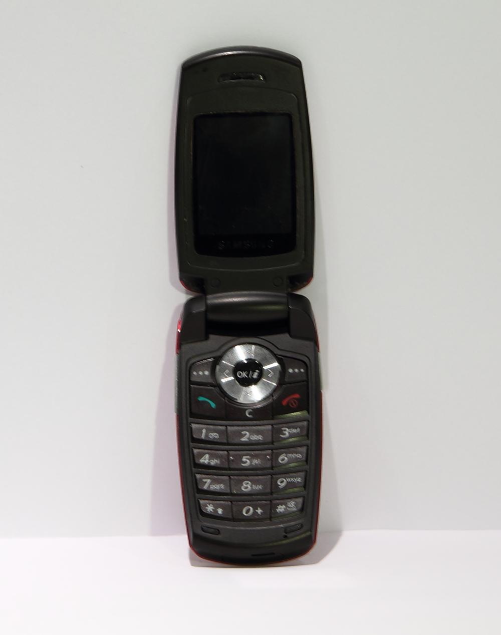 Oude Samsung flip phone