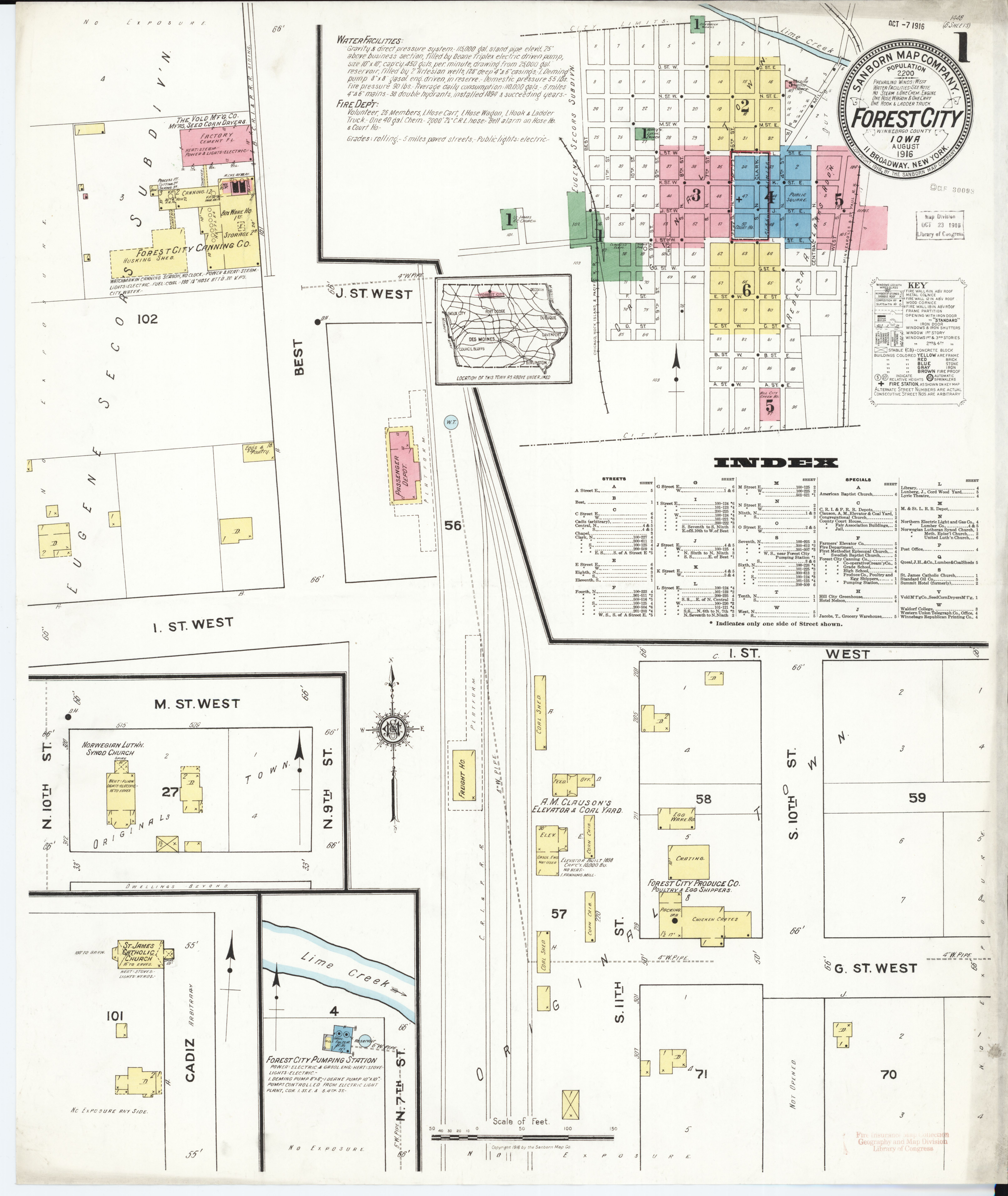 File:Sanborn Fire Insurance Map from Forest City, Winnebago