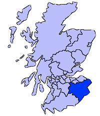 Localización de Scottish Borders en Escocia.