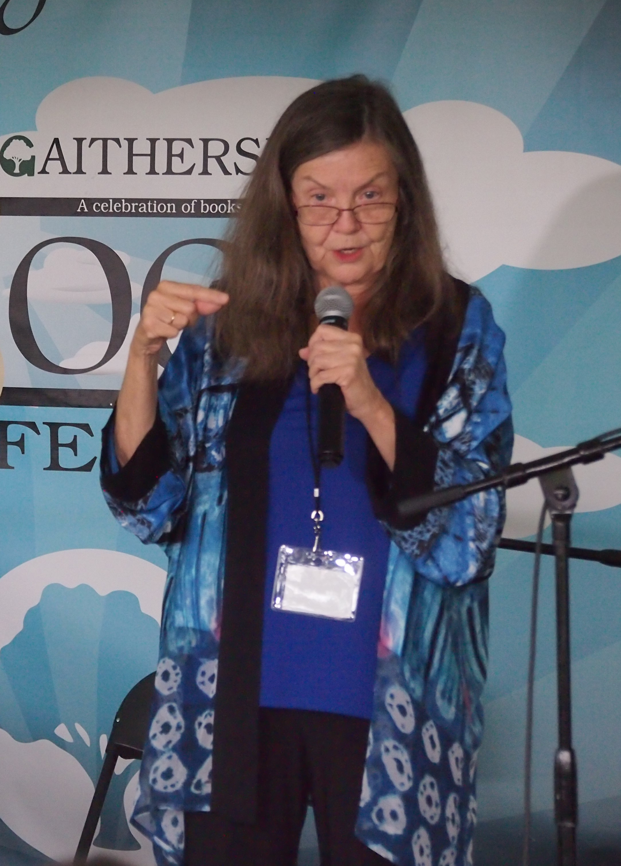 Sheila Turnage reading at the 2017 [[Gaithersburg Book Festival]]