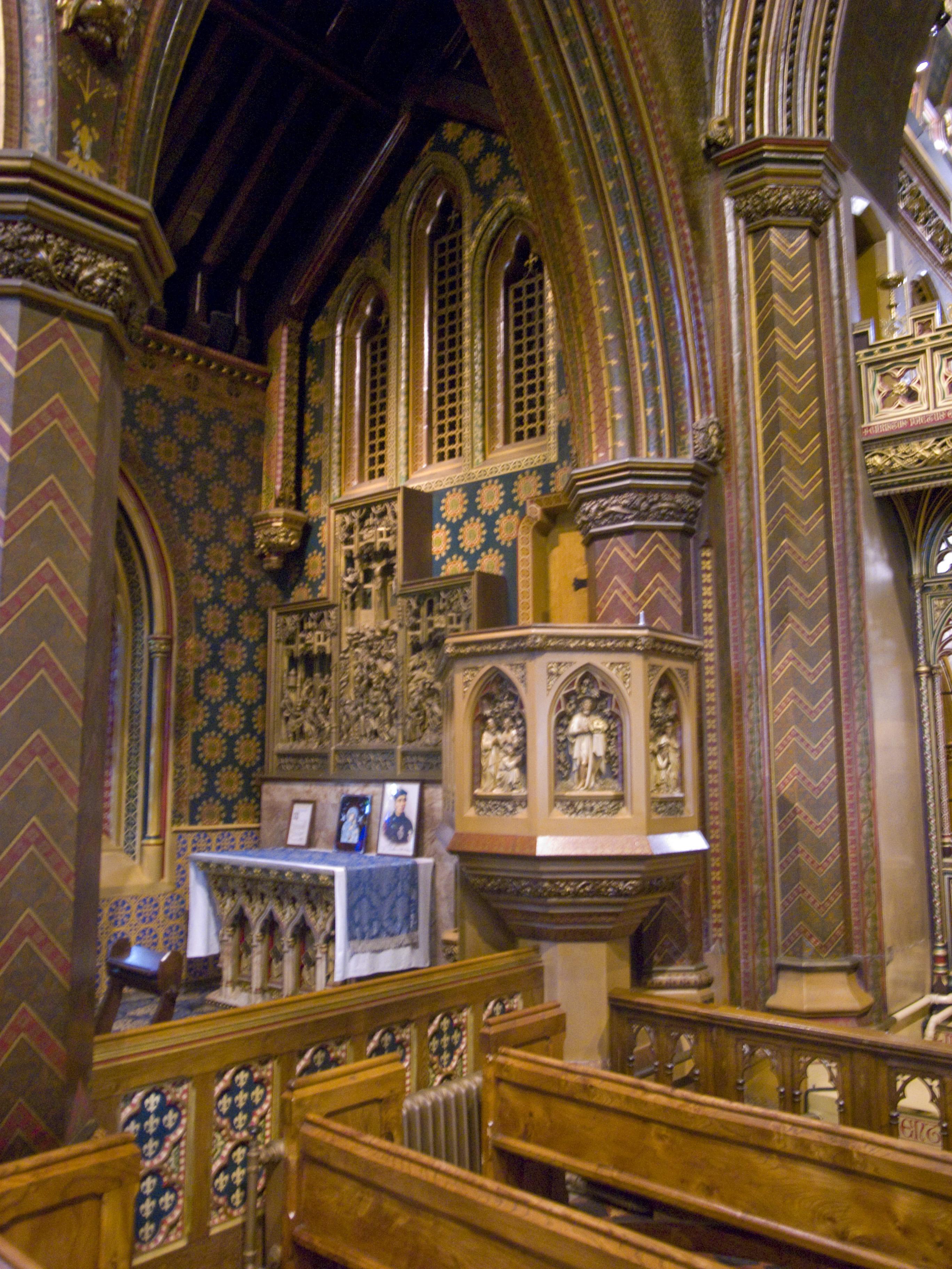File St Giles Rc Church Cheadle Staffs Pulpit Jpg