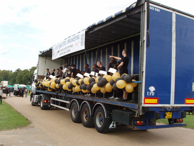 File:Steel band float moving to competition stage - geograph