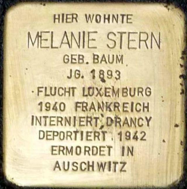 Stolperstein Alzey Melanie Stern.jpg